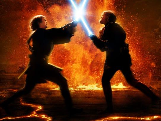 Hayden Christensen as Anakin Skywalker, and Ewan McGregor