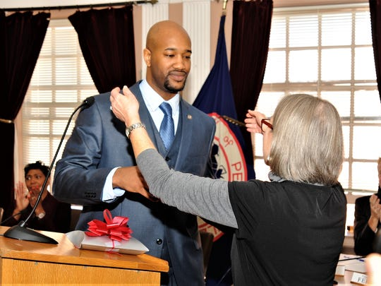 Andre K. Rainey was sworn in as Peekskill's new mayor