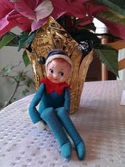 Carol Lutjens of Westwood said this elf is 50 years old and doesn't care for shelves.