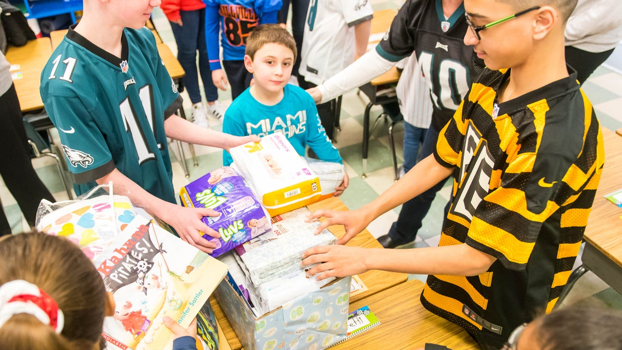 Bishop Schad students of all grades collected donations for newborns and their mothers as part of a service project.