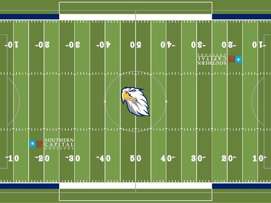Concept photo of Jackson Christian School's turf field.