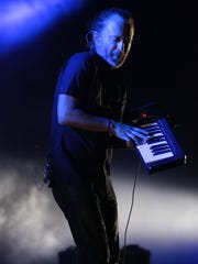 Apr 21, 2017; Indio, CA, USA; Radiohead performs during the Coachella Valley Music and Arts Festival at Empire Polo Club. Mandatory Credit: Zoe Meyers/The Desert Sun via USA TODAY NETWORK
