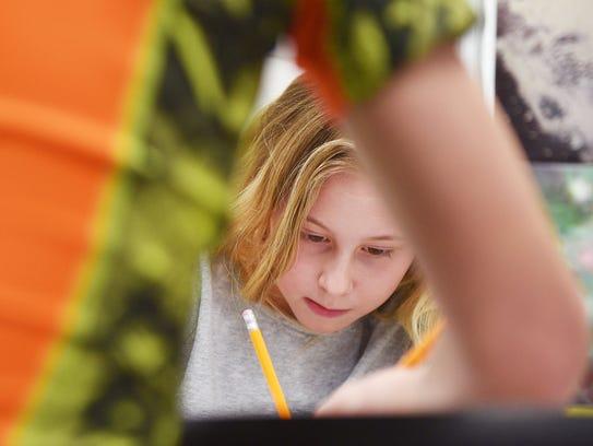 Discovery Elementary School first grader Daylan Straus