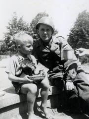 Weston Noble is shown in Bernburg, Germany, in 1945,