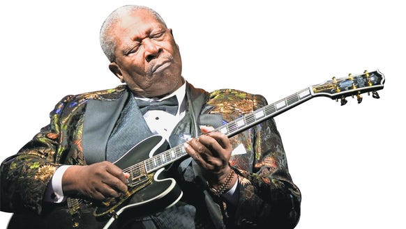 Blues legend B.B. King, who started his career in 1947,