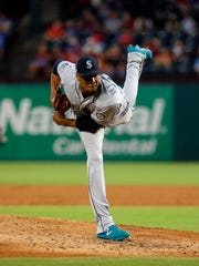 Seattle Mariners starting pitcher Ariel Miranda lasted just 1 2/3 innings against the Texas Rangers, allowing six hits and three walks in a 5-3 loss Monday in Texas.