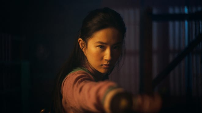 "Yifei Liu in the title role of ""Mulan."" Disney+ will release the live-action film Sept. 4, for $29.99."