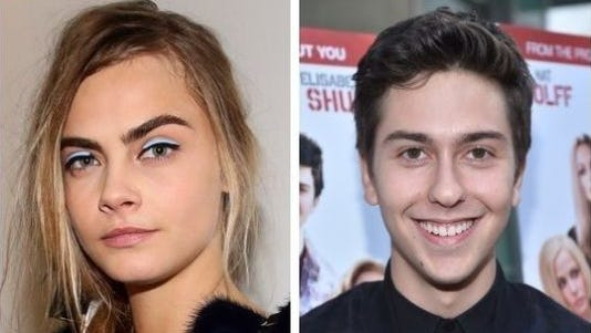 "Cara Delevingne, left, and Nat Wolff will star in ""Paper Towns."""