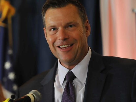 Republican Gubernatorial Candidate Secretary of State of Kansas Kris Kobach Attends His Primary Night Gathering In Topeka