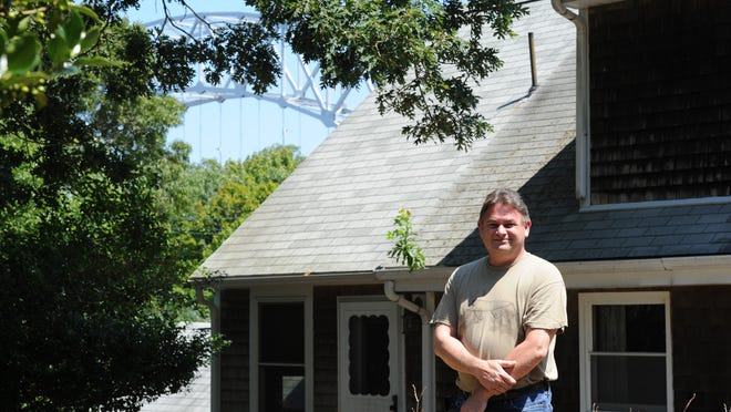 James Poore lives about 600 feet from the Sagamore Bridge, and fears his property could be taken by eminent domain when plans to replace both bridges that span the Cape Cod Canal begin.