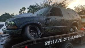 An SUV found in the Peace River had been stolen in 2007.