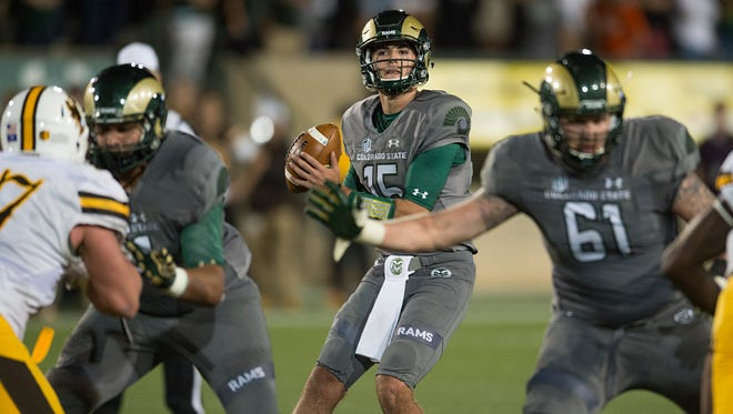 CSU quarterback Collin Hill, who started three games as a true freshman in 2016, hopes to return from his latest ACL tear in time to play this fall. He suffered the injury just before spring break and underwent surgery March 15.