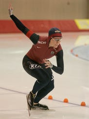 Christine Witty competes in the women's 500 meter competition