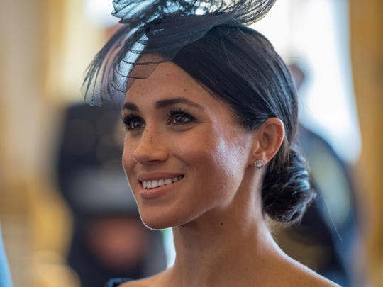 Duchess Meghan of Sussex at a reception to mark the