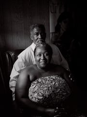 """Levon Brooks and his wife, Dinah, began dating after his release from prison in 2008. They married in 2016. From """"Levon and Kennedy"""" © Isabelle Armand."""