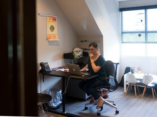 Designsensory art director Courtney Hendricks on Thursday,