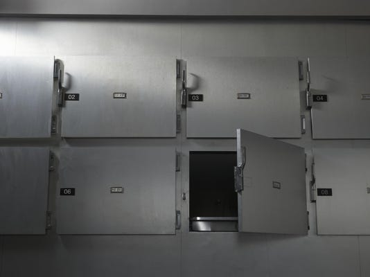 """""""Morgue in hospital, low angle view"""""""