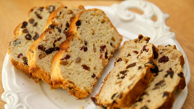 Barm brack, at left, and tea brack are both traditional in Ireland on Halloween.