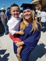 Maeghan McLaughlin with her son.