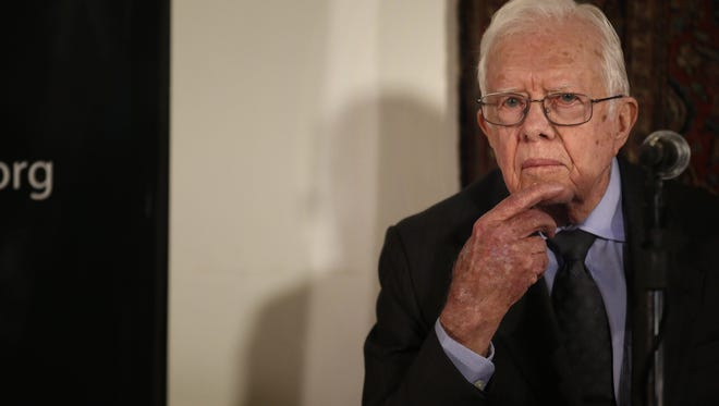 Former president Jimmy Carter left Guyana early after feeling unwell.
