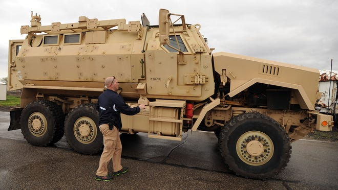 An example of a Mine-Resistant Ambush Protective (MRAP) vehicle.