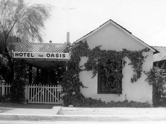 The McCallum Adobe, the oldest building in the city of Palm Springs, was constructed in 1884 out of adobe bricks made from the clay found in the soil around the hot springs.