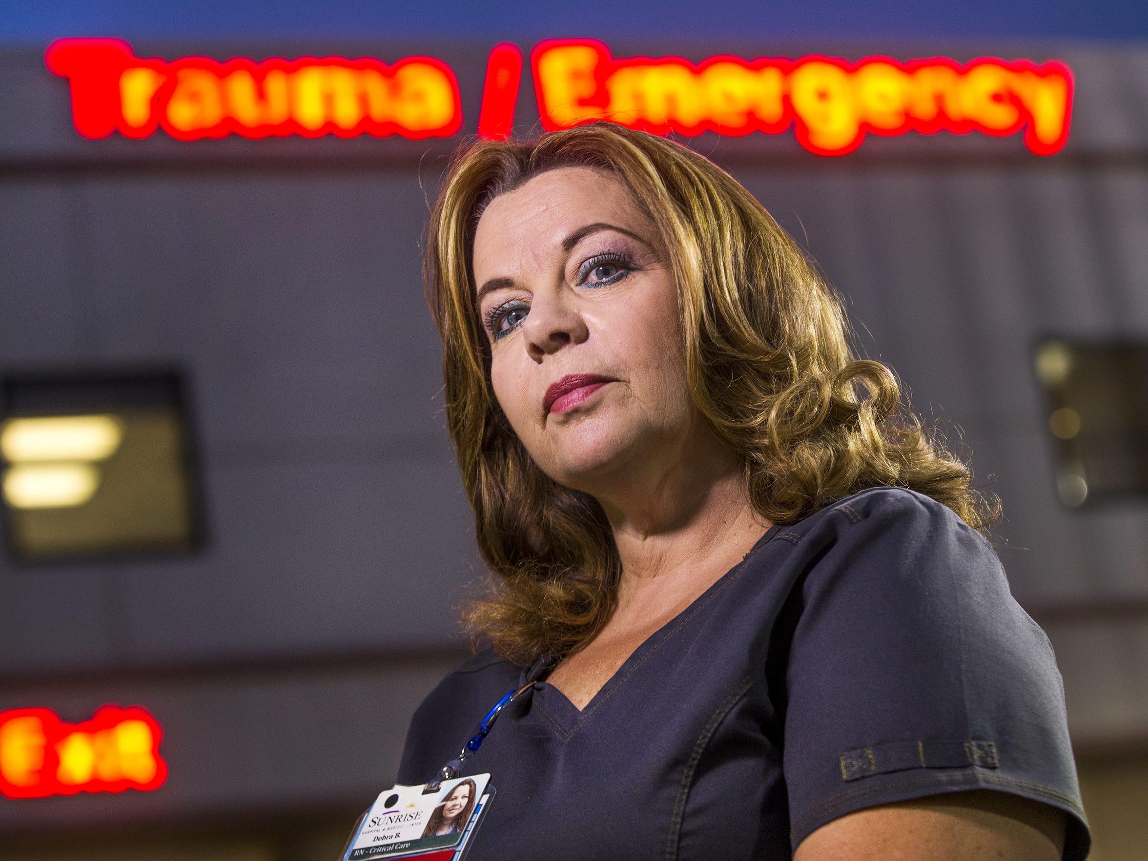 Debbie Bowerman, a nurse at Sunrise Hospital and Medical Center.