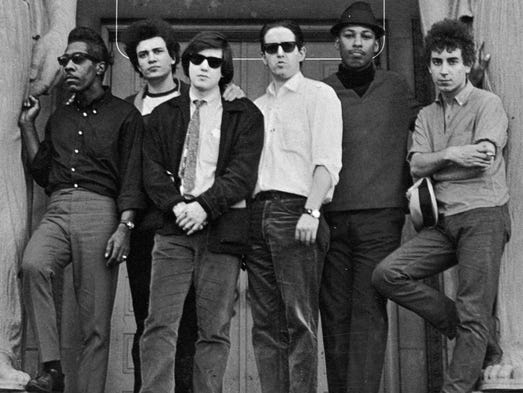 Paul Butterfield Blues Band Billy Davenport, left,