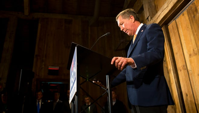 John Kasich's term as governor is nearing an end, but he is considering a third bid for the presidency. In this May 2016 file photo, Kasich suspends his second presidential bid.