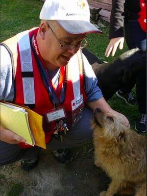 Red Cross volunteer Mark Cook was brought in to help Oregon wildfire survivors.