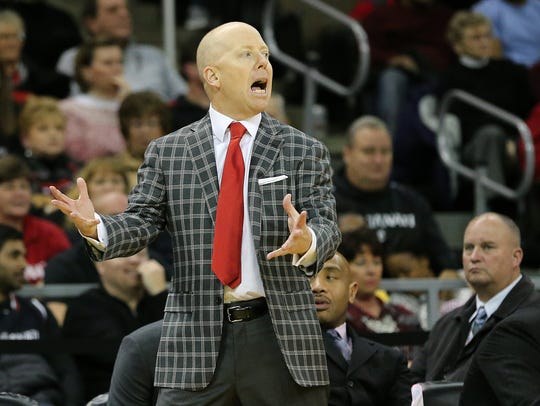 Coach Mick Cronin will send his University of Cincinnati