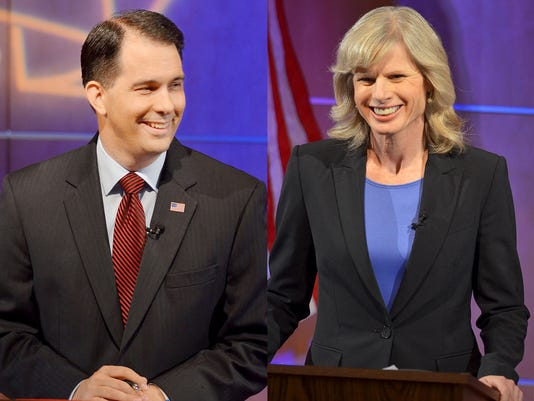 Scott Walker, Mary Burke, BurkeWalker