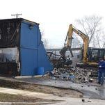 Blaze guts Highland Township auto parts store