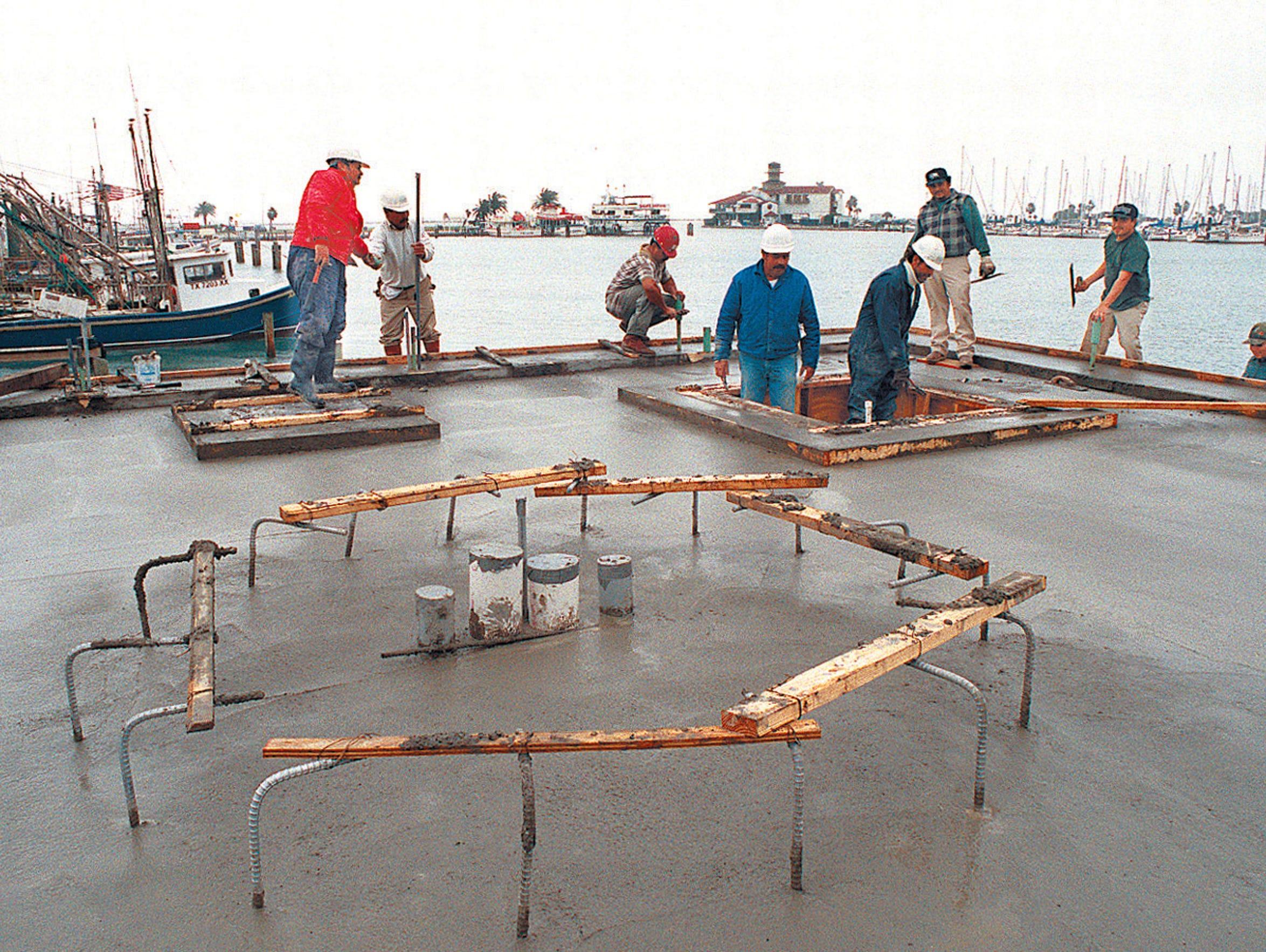 Construction of the memorial to slain Tejano star Selena,