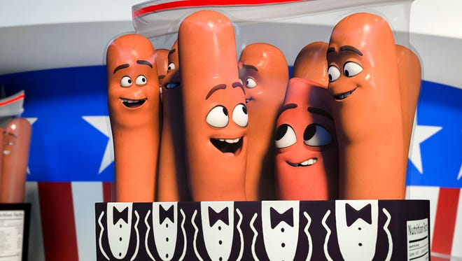 """Sausage Party"" surrounds a misplaced sausage and his fellow food friends embarking on an existential adventure through a supermarket as its Fourth of July sale nears."