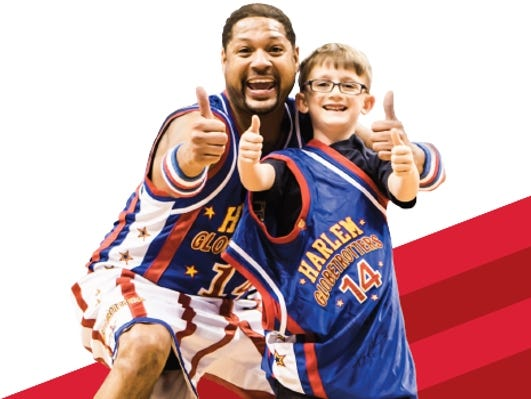 Enter to win (4) tickets to see the Harlem Globetrotters on Sat., April 1. Enter 3/10 - 3/24