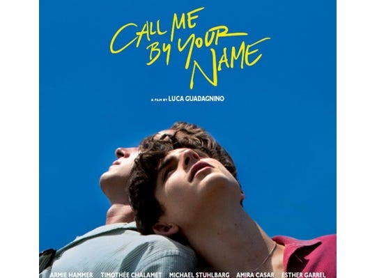 "Join the Asheville Movie Guys for a movie screening of ""Call Me By Your Name"" at the Fine Arts Theatre, January 22 at 7:00 pm."