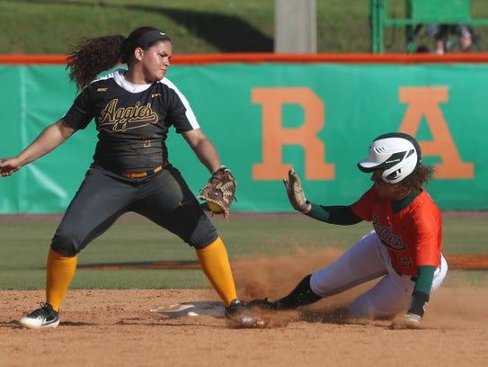 FAMU's Rosier, Taylor slides in safely at second base