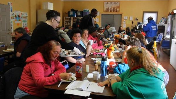 Lunch is served at St. Mark's Episcopal Church Center for Community Renewal in Keansburg, N.J.