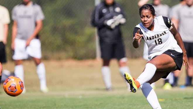 Anderson University's Tina Shakes ranks in the top-10 nationally in goals per game.