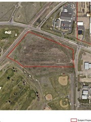 The red outline indicates the location of a new office