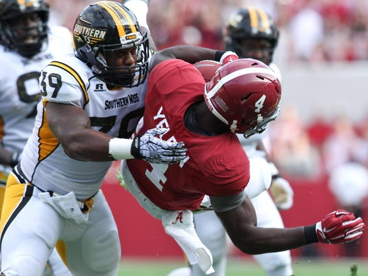 NCAA Football: Southern Mississippi at Alabama