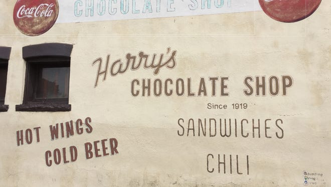The west exterior wall of Harry's Chocolate Shop on 329 W State St. in West Lafayette on Tuesday, July 11, 2017.