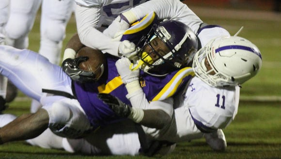 New Rochelle's Khairi Manns tackles Troy's Joey Ward