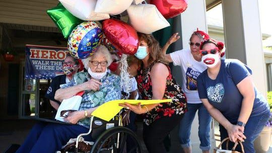 Birthday celebration for 108-year-old, Rosie Lucille on June 2, 2020.