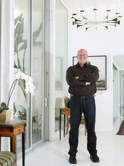 Digicom film festival founder and former Disney executive David Vogel at his Palm Springs home.