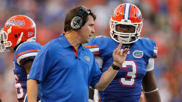 Florida coach Will Muschamp and his Gators should be 3-0 before playing their first road game of the season Sept. 20 at Alabama.