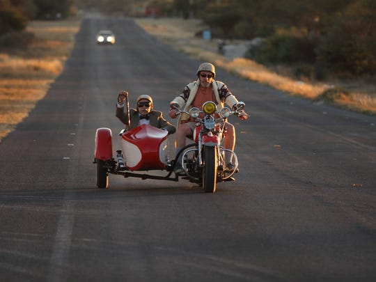 """Ed (Tim Ross) hits the road with Servando Villegas (Hector Bonilla) along for the ride in """"Un Padre No Tan Padre."""""""