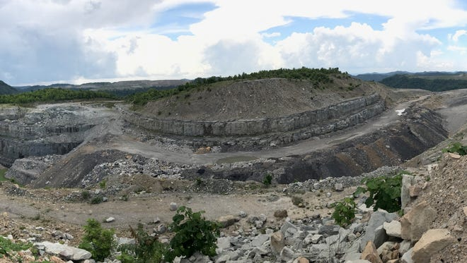 The Bent Mountain mining site, which state environmental officials said still needs reclamation. The photo is from July 2017.