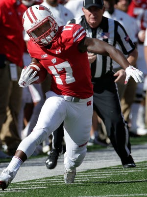 George Rushing had 12 catches for 136 yards last season as Wisconsin's No. 3 receiver.